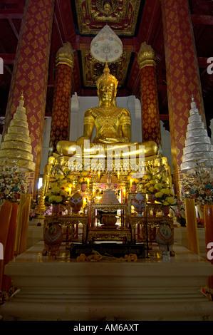 1400 years old buddha statue in ayutthaya, thailand - Stock Photo