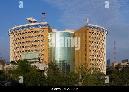 Post Modern building in Hi tech city Hyderabad Andhra Pradesh India - Stock Photo
