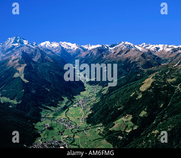 Stubai Valley, Neustift, Stubai Alps, Tyrol, Austria - Stock Photo