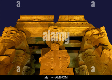 Kom Ombo temple of Sobek and Haroeris Egypt North Africa - Stock Photo
