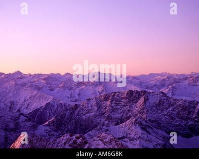Dusk, Oetztal Alps, Tyrol, Austria - Stock Photo