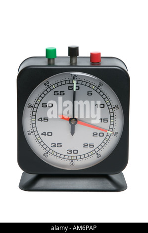 Timer clock isolated on a white background with clipping path - Stock Photo