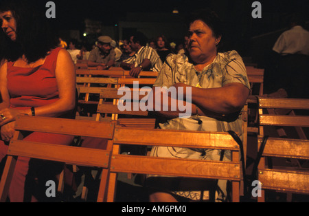 Cadiz province the audience watching a local flamenco contest - Stock Photo