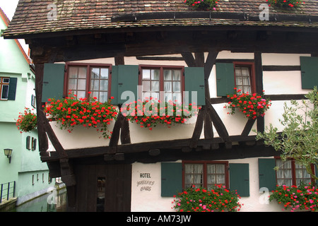 askew house hotel schiefes house ulm baden wuerttemberg germany stock photo 103719339 alamy. Black Bedroom Furniture Sets. Home Design Ideas