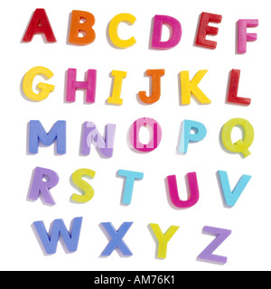 Magnetic alphabet letters - Stock Photo