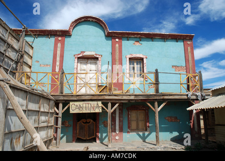 Wooden building in an old American western style town - Stock Photo
