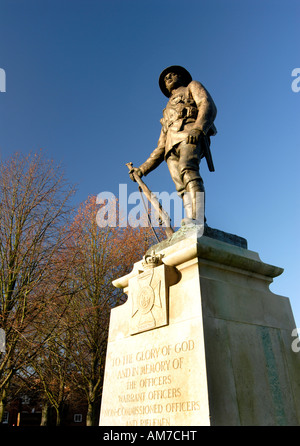 Kings Royal Rifle Corps Memorial at Winchester cathedral UK - Stock Photo