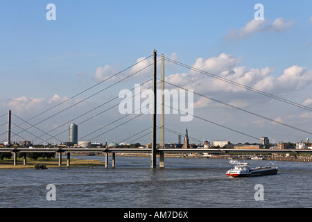 Duesseldorf, South Bridge, view to the North, NRW, Germany - Stock Photo