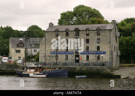 The Cardigan Heritage Centre on the river Teifi a grade two listed building attracts tourists to Cardigan Mid Wales - Stock Photo