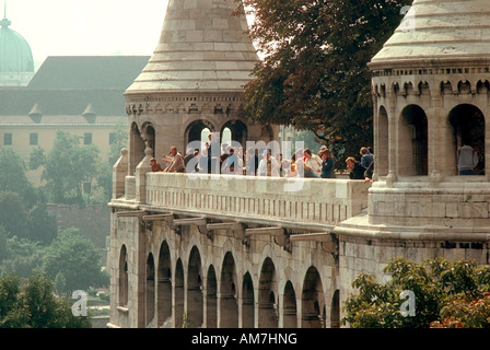 Fisherman Bastion, Budapest, Hungary - Stock Photo