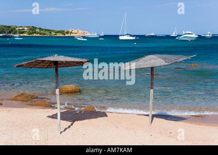 Beach near Romazzino, Costa Smeralda, Sardinia, Italy - Stock Photo