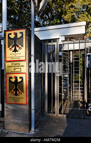 Safety gate at the side entrance of the Federal Chancellery, Adenauer Avenue, Bonn, NRW, Germany, - Stock Photo