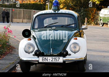 Patrol car of the German police, VW, 1967, Germany - Stock Photo