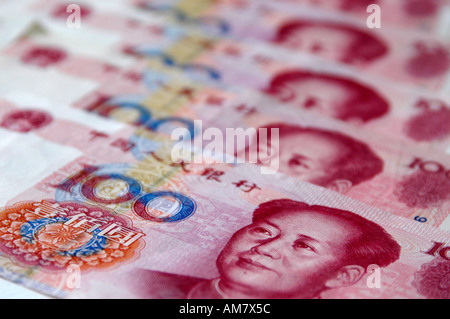 100 Renminbi Yuan Chinese currency note - Stock Photo