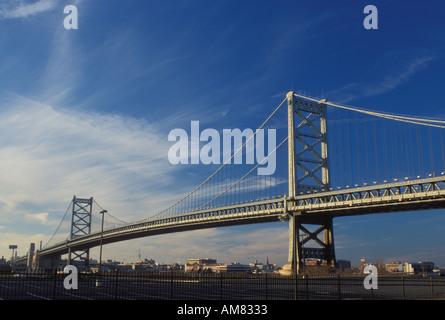 AJ19828, Philadelphia, bridge, PA, Pennsylvania - Stock Photo