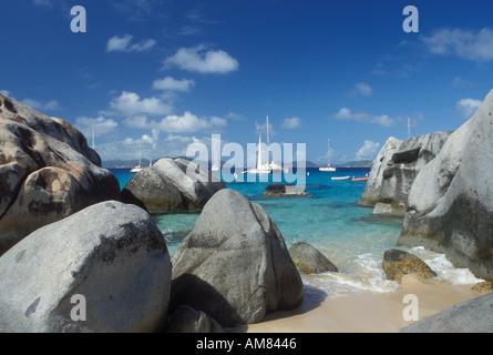 AJ20089, Devils Bay National Park, Virgin Gorda, The Baths, British Virgin Islands, Caribbean, BVI - Stock Photo