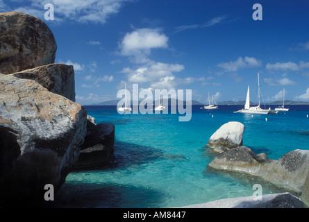 AJ20090, Devils Bay National Park, Virgin Gorda, The Baths, British Virgin Islands, Caribbean, BVI - Stock Photo