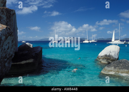 AJ20091, Devils Bay National Park, Virgin Gorda, The Baths, British Virgin Islands, Caribbean, BVI - Stock Photo