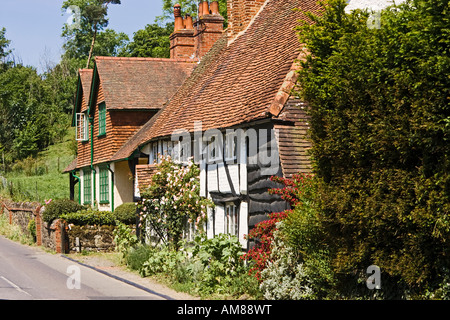 Traditional Surrey architecture in the old village of Shere Surrey England UK - Stock Photo