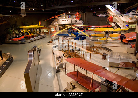 Wisconsin USA Oshkosh Air Venture Experimental Aviation Association EAA Museum display room November 2006 - Stock Photo