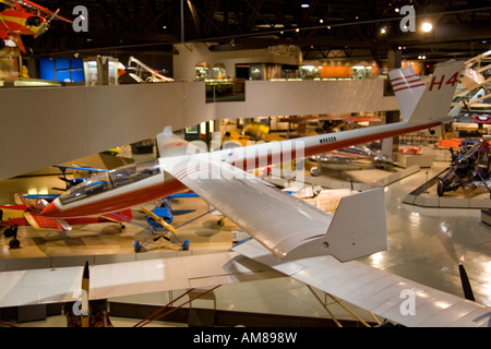 Wisconsin USA Oshkosh Air Venture Experimental Aviation Association EAA Museum homemade glider November 2006 - Stock Photo