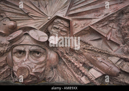 Battle of Britain war memorial sculpture, Embankment, London, England - Stock Photo