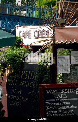 Waterside Cafe Little Venice Maida Vale London W2 England  - Stock Photo