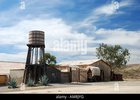 Scenery in an old American western style town - Stock Photo