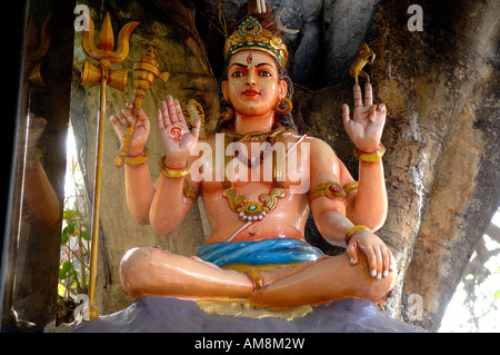 India, Karnataka state, Bangalore, Hindu God Shiva - Stock Photo