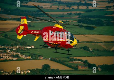 West Midlands Air Ambulance - Stock Photo