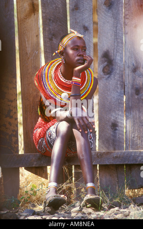Young woman from the Samburu tribe - Stock Photo