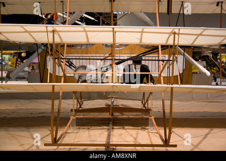Wisconsin USA Oshkosh Air Venture Experimental Aviation Association EAA Museum A replica of the Wright brothers - Stock Photo