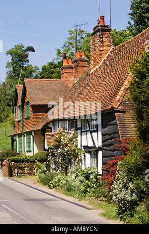 Surrey UK - Old cottages in the village of Shere in Surrey, England, UK - Stock Photo