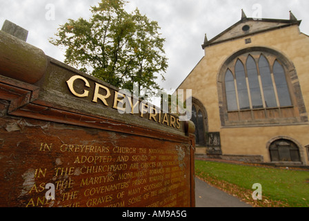 Greyfriars Church outside view Edinburgh Scotland - Stock Photo