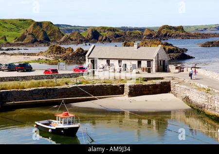 Ballintoy Harbour at White Park Bay near Bushmills on County Antrim coast road, Northern Ireland.