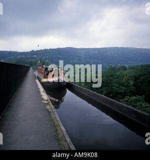 Pont Cysyllte Aqueduct Llangollen Clwyd Wales - Stock Photo