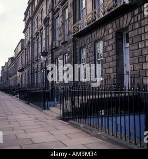 Heriot Row New Town Edinburgh Lothian Scotland - Stock Photo