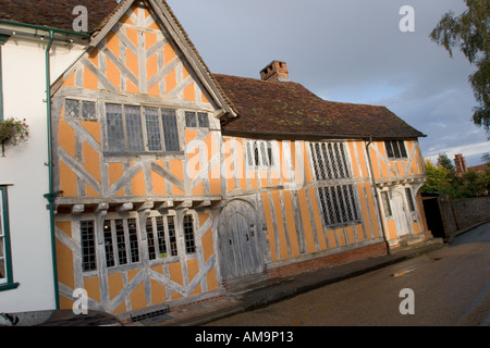 Little Hall Lavenham Suffolk first built in the 1390s - Stock Photo