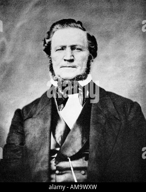 Brigham Young 1801 1877 president of the Mormons for 30 years and the first Governor of the American State of Utah - Stock Photo