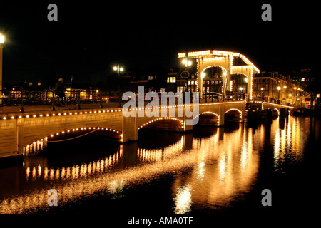 Magere Brug, Amsterdam - Stock Photo