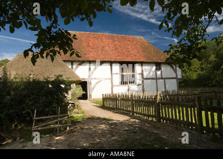 West Sussex Singleton Weald and Downland Museum Bayleaf Wealden Farmstead from Chiddingstone - Stock Photo