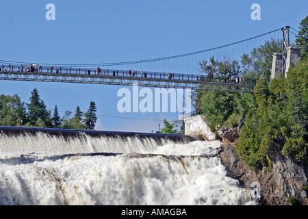 Suspension bridge near quebec city
