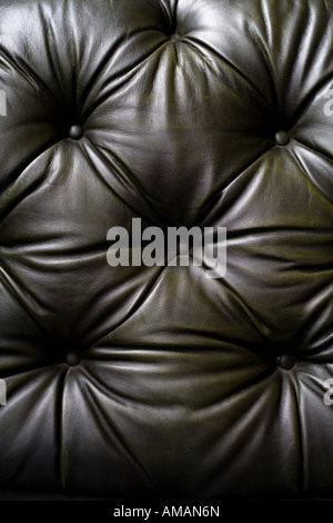 Detail of a leather sofa - Stock Photo