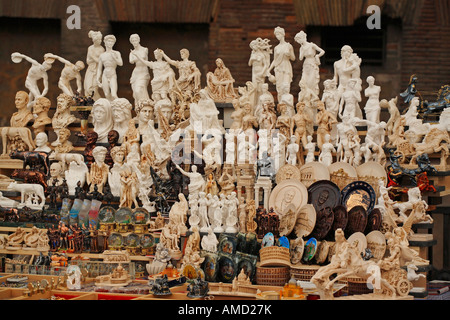 Souvenirs for sale in Rome, Italy - Stock Photo