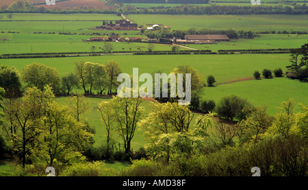 england home counties buckinghamshire the chilterns view of the vale of aylesbury from ivinghoe beacon - Stock Photo