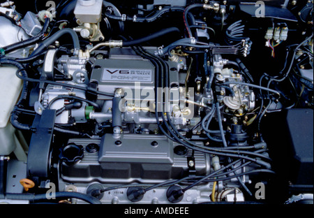 Rover 825, V6, two and a half litre, 24 valve, motor car engine. - Stock Photo
