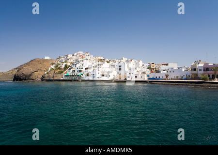 Las Playitas fisherman town Fuerteventura Canary Islands Spain - Stock Photo