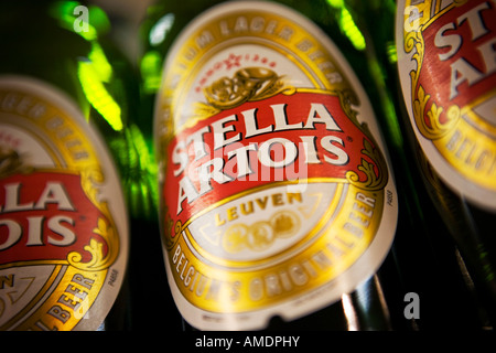 Stella Artois bottles - Stock Photo