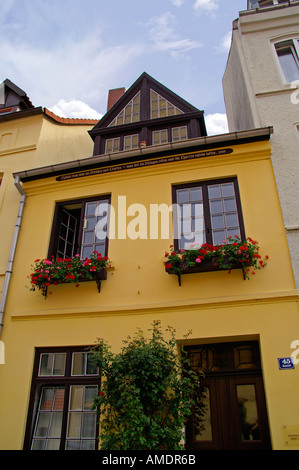 Wismar Straße Neustadt Giebelhaus - Stock Photo