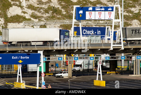 Cross Channel Port of Dover Kent England Check in and Exiting facilites - Stock Photo